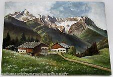 Ölgemälde auf Leinewand ohne Rahmen-Alpenlandschaft-Maler R.Kriegel 50x70cm