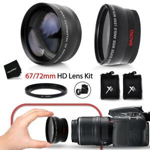 67mm Wide Angle + 2x Telephoto Lens f/ Nikon AF-S NIKKOR 85mm f/1.8G Lens