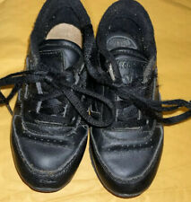 New listing unisex toddler black reebok laceup tennis shoes SIZE:9 Used Sneakers