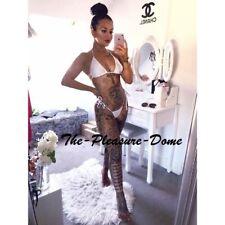 Tia Mendez Sexy White Bikini Beach Wear Lap Dancing Pole Dancing Bedroom Fun