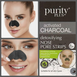 6x Blackhead Removal Strips Nose Mask Deep Cleansing Pore Charcoal Treatment
