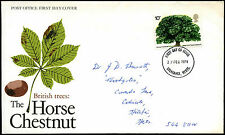 GB FDC 1974 British Trees, Stevenage FDI  #C39524