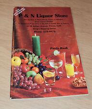 """1970 HOLIDAY CATALOG/Calendar~""""P&N LIQUOR STORE""""~Fresno CA~Party Book~Ephemera~"""