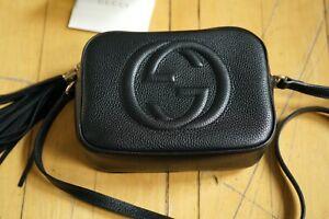 Gucci Soho Leather Disco Bag - Black