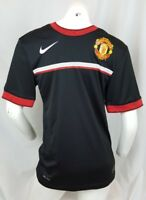 Nike Mens Soccer Jersey Size Small Manchester United Black Dri-Fit 019842676
