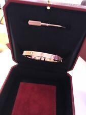 Original Cartier love bracelet rose gold 17 4 Diamonds