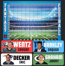 Fantasy Football Draft Kit 2018 - COLOR RUSH Labels & Draft Board -TheFootballDR