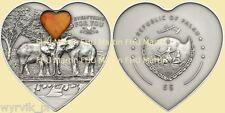 PALAU 2013 Everything for you AMBER Elephants5$ UNC CoA