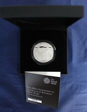 """2015 Silver Piedfort Proof £5 Crown coin """"Waterloo"""" in Case with COA    (C5/15)"""