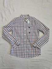 Boys Abercrombie Kids White, Red And Blue Plaid Button Down Sz M (12) NWT