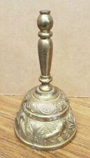 "Vintage Brass Bell Leo Aqvila Agnvs Pelicanvs Church Liturgical Bell 4¾"""