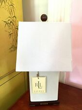 NEW Ralph Lauren Beige Crackle Porcelain Table Lamp w/ Beige Linen Shade