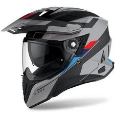 CASCO MOTO INTEGRALE FIBRA DUAL AIROH COMMANDER SKILL MATT BMW GREY BLU RED  XXL