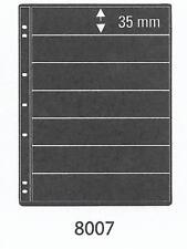 PRINZ PRO-FIL 7 STRIP BLACK STAMP ALBUM STOCK SHEETS Pack of 5 Ref No: 8007