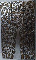 Pannello in legno Albero della vita creato a mano cm 100x60 oro e argento