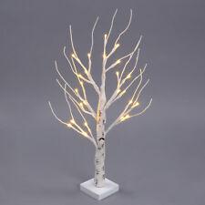Christmas Pre Lit Silver Birch Tree LED Lights Table Lamp Night Light Festive