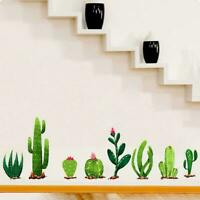 DIY Succulents Cactus Pot Plant Flowers Wall Sticker Room Living Nursery Q0F2