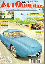 REVUE MAGAZINE AUTOMOBILIA N°4 SOCEMA-GREGOIRE MATFORD V8 CITROEN AMI 6 VERMOREL