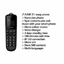 Bietet Neu Zanco Wespe Kleinste Telefon mit Stimme Wechsler Bluetooth UK