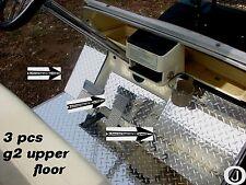 YAMAHA G2-G9 golf cart Highly Polished Diamond Plate 3 pc upper floor plates