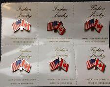 Lot of 6x Canada & U.S. Pins - Brand New