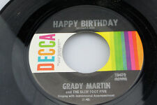 Grady Martin: Happy Birthday / Anniversary Song  [new Unplayed Copy mfg slv ]