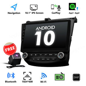 """10.1"""" Android 10 Touch Screen Car Radio Bluetooth GPS 2003-2007 for Honda Accord"""