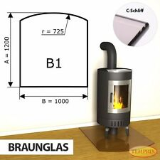 Funkenschutzplatte & Glasbodenplatte   Kaminbodenplatte   B1 Bronze   Temprix