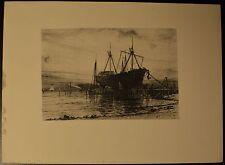 """Sunset, Gowanus Bay"" Original Etching by Henry Farrer 1889 BEAUTIFUL!"