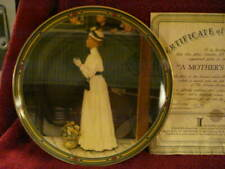 """Knowles Limited Edition """"A Mother's Welcome"""" Norman Rockwell Plate (#8458D)"""