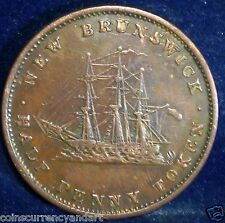 NEW BRUNSWICK Half  Penny Token 1843  NB-1A2