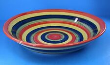 """Tabletops Unlimited Swirl Large Serving Bowl Discontinued 12"""" Handpainted EUC"""