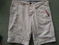 SuperDry  International Shorts Sz L 34-35 in Cotton Beige 4 Pockets