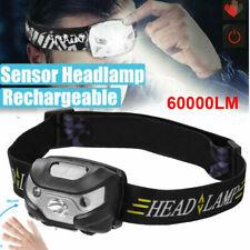 5 Mode 60000lm LED HeadLamp Motion Sensor USB Rechargeable head lamp headlight~❤