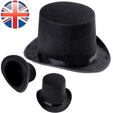 UK Seller  Adults Kids Black Top Hat Velour Fancy Dress Magician Mad Hatter 42a523a119f