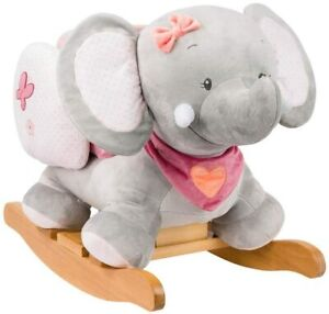 Nattou Adele and Valentine - Rocker Adele Childs Animal Rocking Chair Elephant