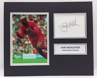 Raro Gary Mcallister Liverpool Autografato Foto Display + COA Memorabilia