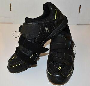 Body Geometry Vibram Black Bike Shoes Size 10 1/2 Men Cycling