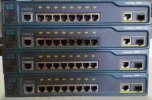 Cisco WS-C2960-8TC-L 8-port 10/100 Mbps 1 dual-purpose uplink LAN Base Switch