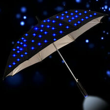 "23"" Creative Windproof LED Auto Open Long Handle Rain Umbrella With Flashlight"