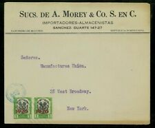 Dominican Republic 1920 Commercial Cover San Pedro de Macoris to Ny w/ Scott 222