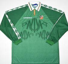 1996-1998 IRELAND PLAYER ISSUE ADIDAS HOME FOOTBALL SHIRT (SIZE XL)
