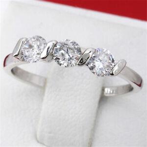 Women Fashion Simple Crystal Ring Ladies Engagement Ring Wedding Jewelry B1