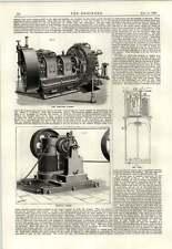 Anillo de lugar 1889 Lámpara de arco de armadura Dínamo Clichy