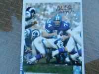 DALLAS COWBOYS Hall of FAMER BOB LILLY AUTOGRAPHED PHOTO w/HOF 80