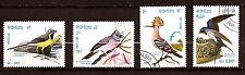 95 LAOS 4 magnifiques oiseaux  de 1982. Timbres oblitérés