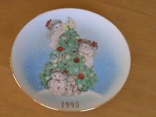 Dreamsicles By Kristin Collector Plate The Finishing Touches Christmas 1995 Gilt