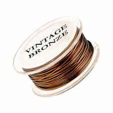 20 Gauge Permanently Colored Round Wire. Vintage Bronze Colored. 10 Yard Spool