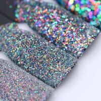des paillettes de poussière paillette holographique nail art poudre paillettes