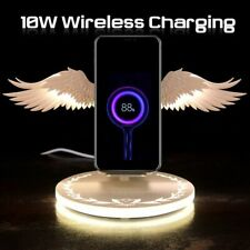 Angel Wings Wireless Charger Holder fast Charging Dock for iPhone huawei Samsung